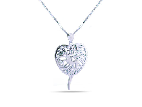 """Bodhi Tree"", The Awakening  Necklace White Gold"