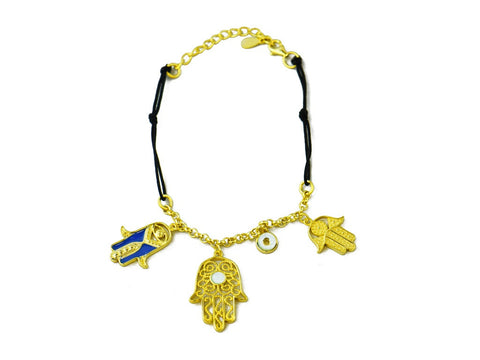 """Hamsa"", Symbol of Protection Bracelet Yellow Gold"