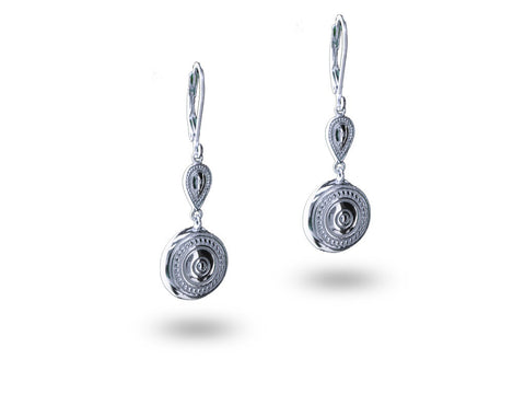 """Aadarshini"", Idealistic Earrings White Gold"