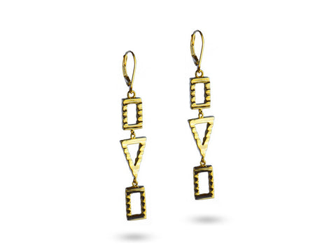 """Sadiki"",The Faithful One Earrings Yellow Gold"
