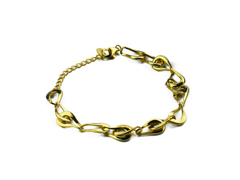 """Rosabella"" The Rose, Bracelet in Yellow Gold"