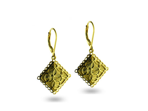 """Aida"", Happy Earrings in Yellow Gold"