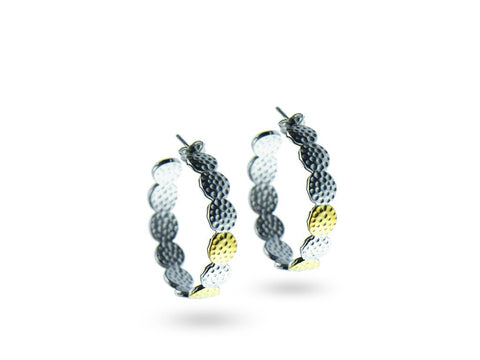 """Adaani"", The Pretty One Earrings Yellow and White Gold"