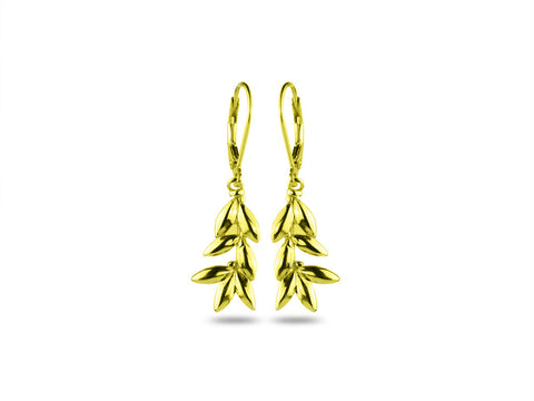 """Eukleia"",The Glory Earring Yellow Gold"