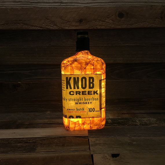 Knob Creek Bourbon Bottle Light