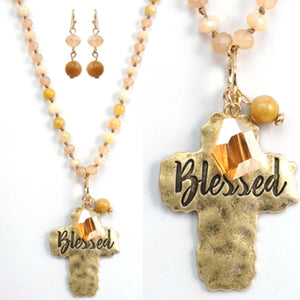 Blessed Necklace, Peach
