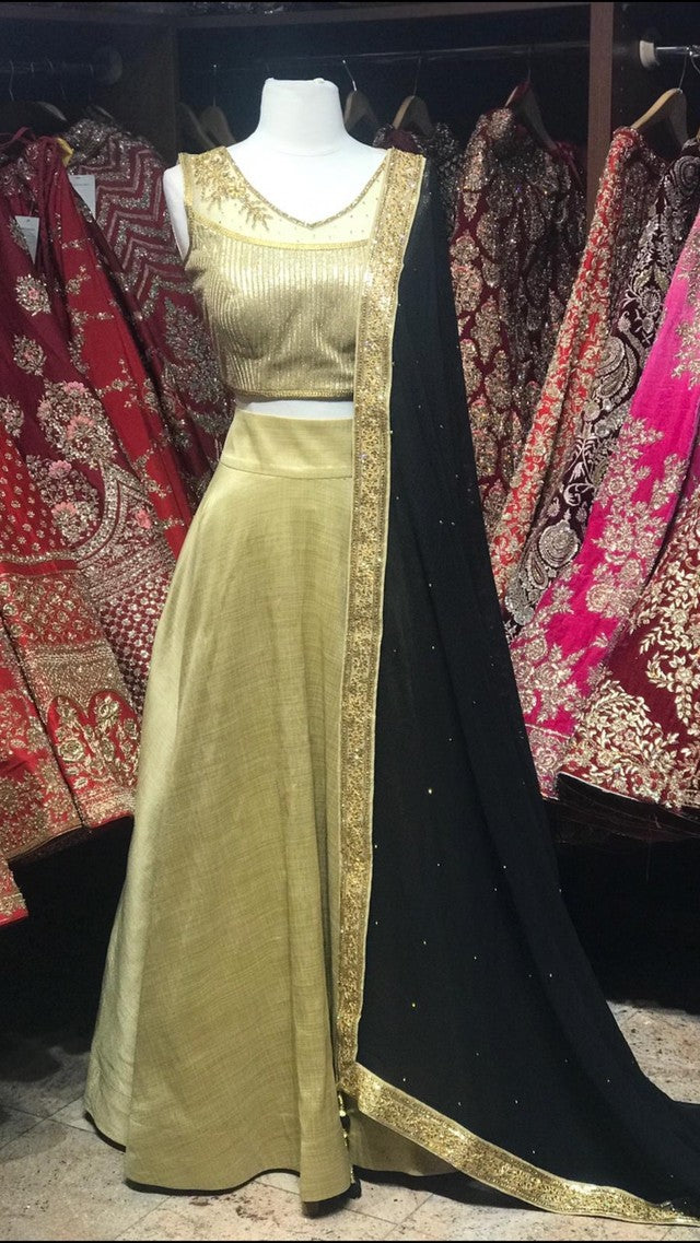 Gold Bridesmaid's Lehenga