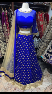 Royal Blue Bridesmaid's Lehenga