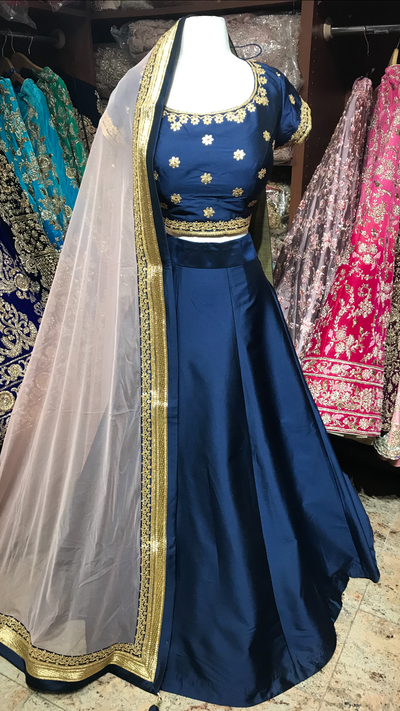 Navy Blush Bridesmaid's Lehenga