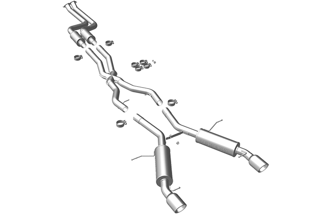 BMW E9X 335i Coupe Magnaflow Touring Series Cat-Back Exhaust System