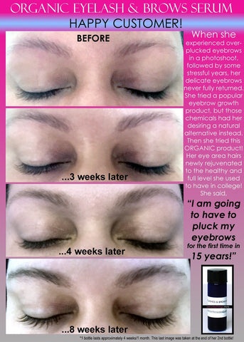 Eyelash Growth Serum, Eyebrow Growth Serum - Organic Eyelash Growth Serum And Eyebrow Growth Serum Energizing 2 In 1 Product