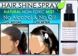 Hair Shine Spray - Natural Hair Shine Spray Mist Gloss Clear Illuminator No Oil