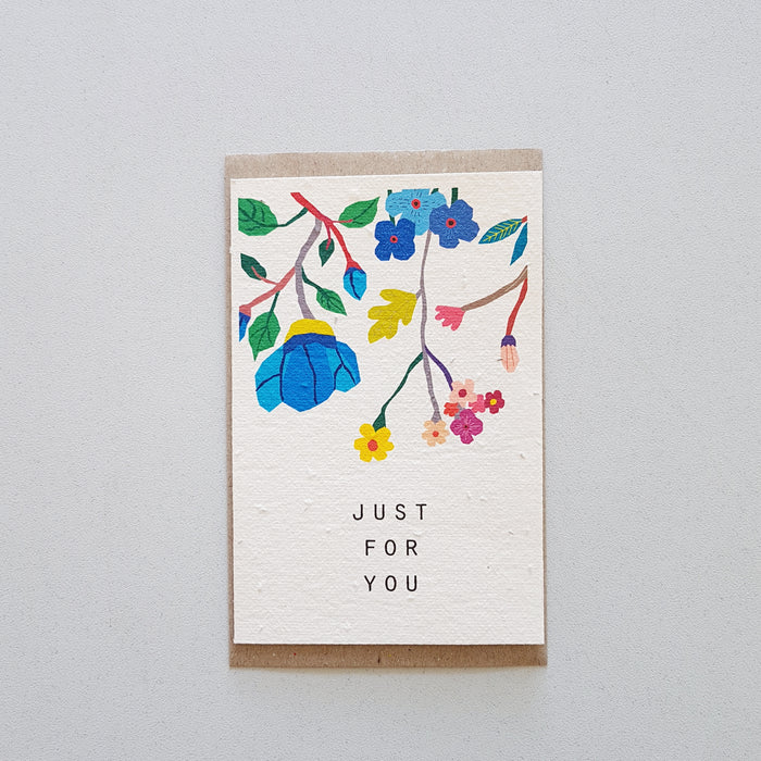 The 'JUST FOR YOU' Card (that grows)