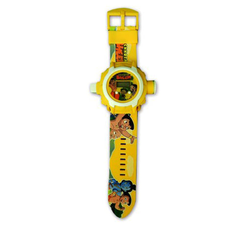 Chhota Bheem 24 Images Projector Watch (Yellow)