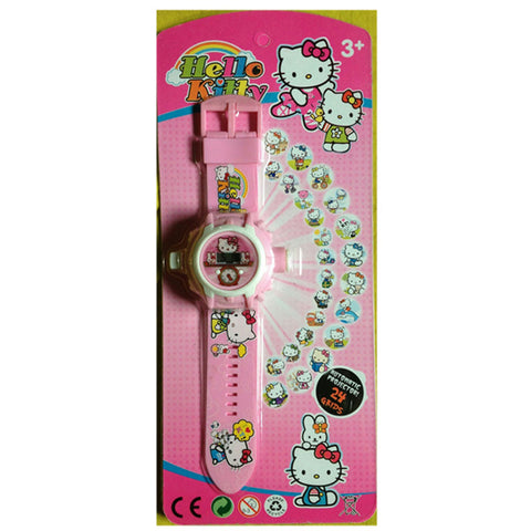 Hello Kitty 24 Images Projector Watch (Pink)