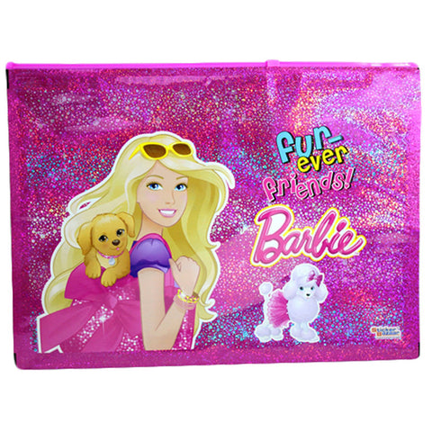 A4 Sparkle Pouch Of Barbie