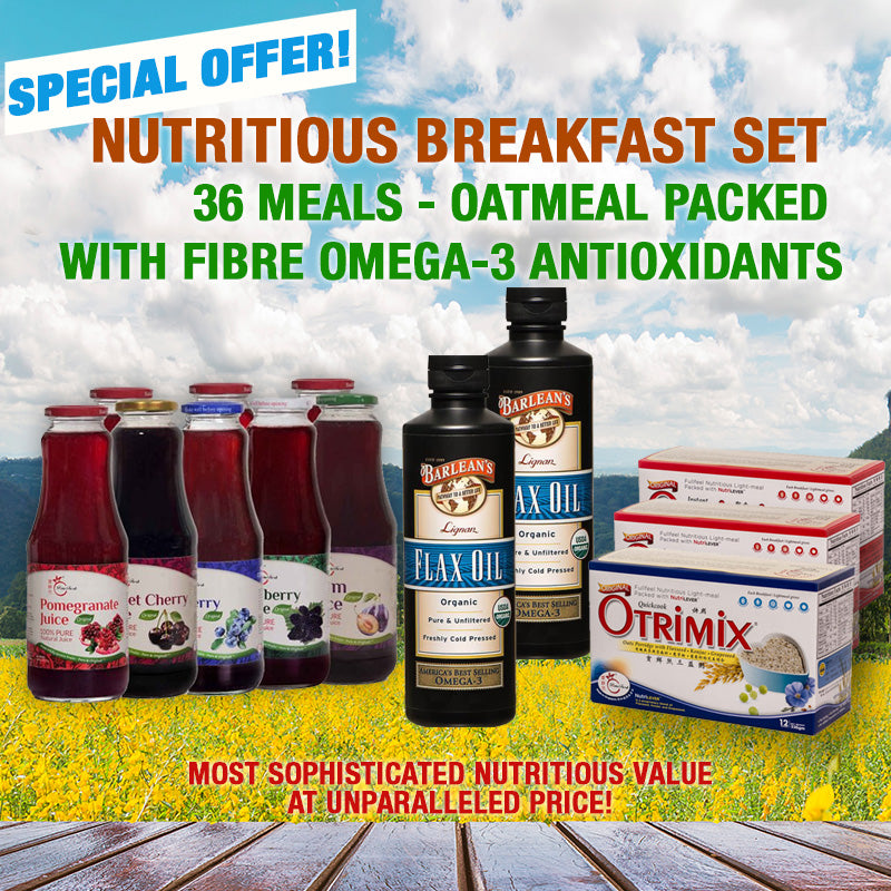 Nutritious Breakfast Set 36 Meals - Oatmeal Packed with Fibre Omega-3 Antioxidants - SAVE $20.4