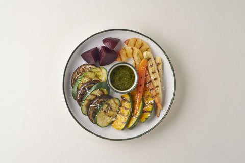 Grilled Salad With Homemade Pesto Dressing