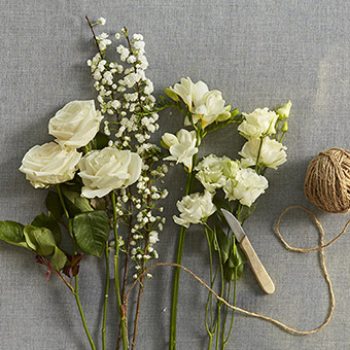 Faris - Florist Choice Ivory/Cream Flowers Handtied
