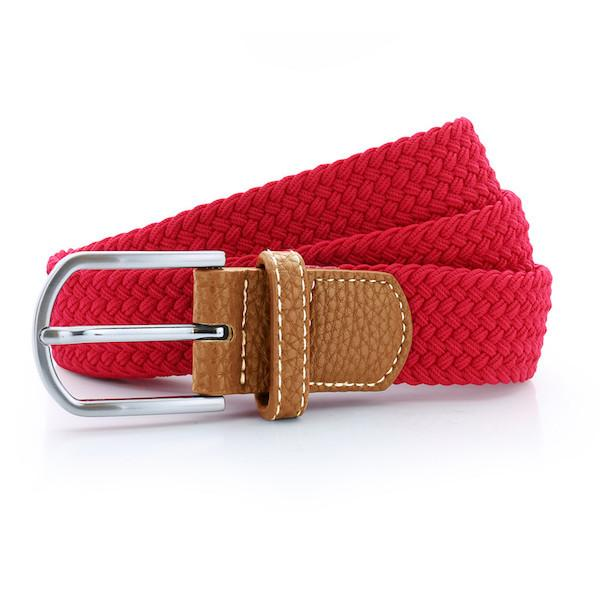 Born Braid Stretch Belts - Red - Born Store