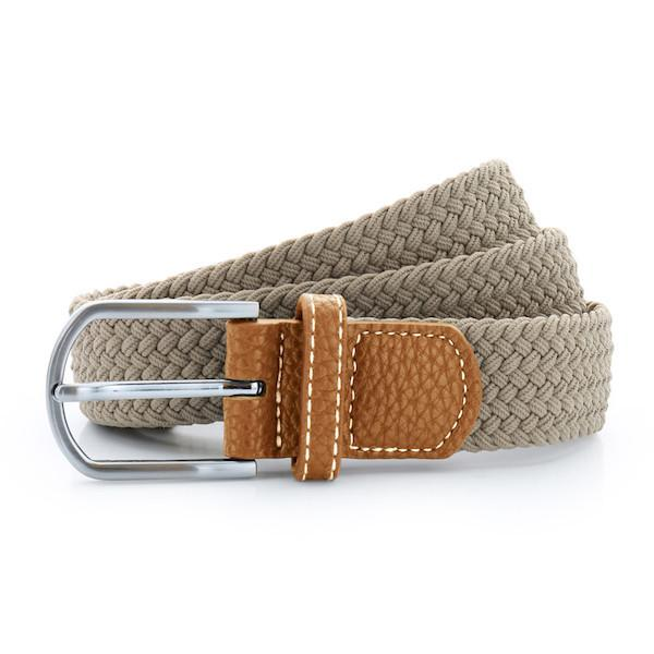 Born Braid Stretch Belts - Khaki - Born Store