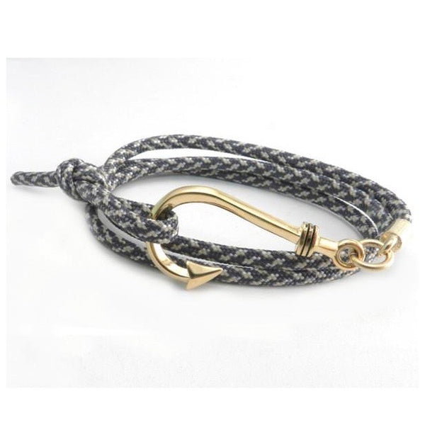 Amigaz Fish Hook Paracord Slider Gold Digital Camo Bracelet - Born Store