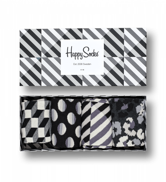 Happy Socks - Gift Box Black & White