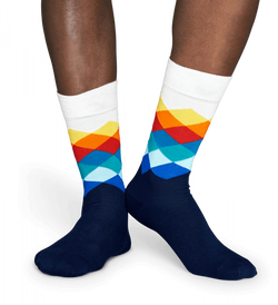 Happy Socks - Faded Diamond Sock