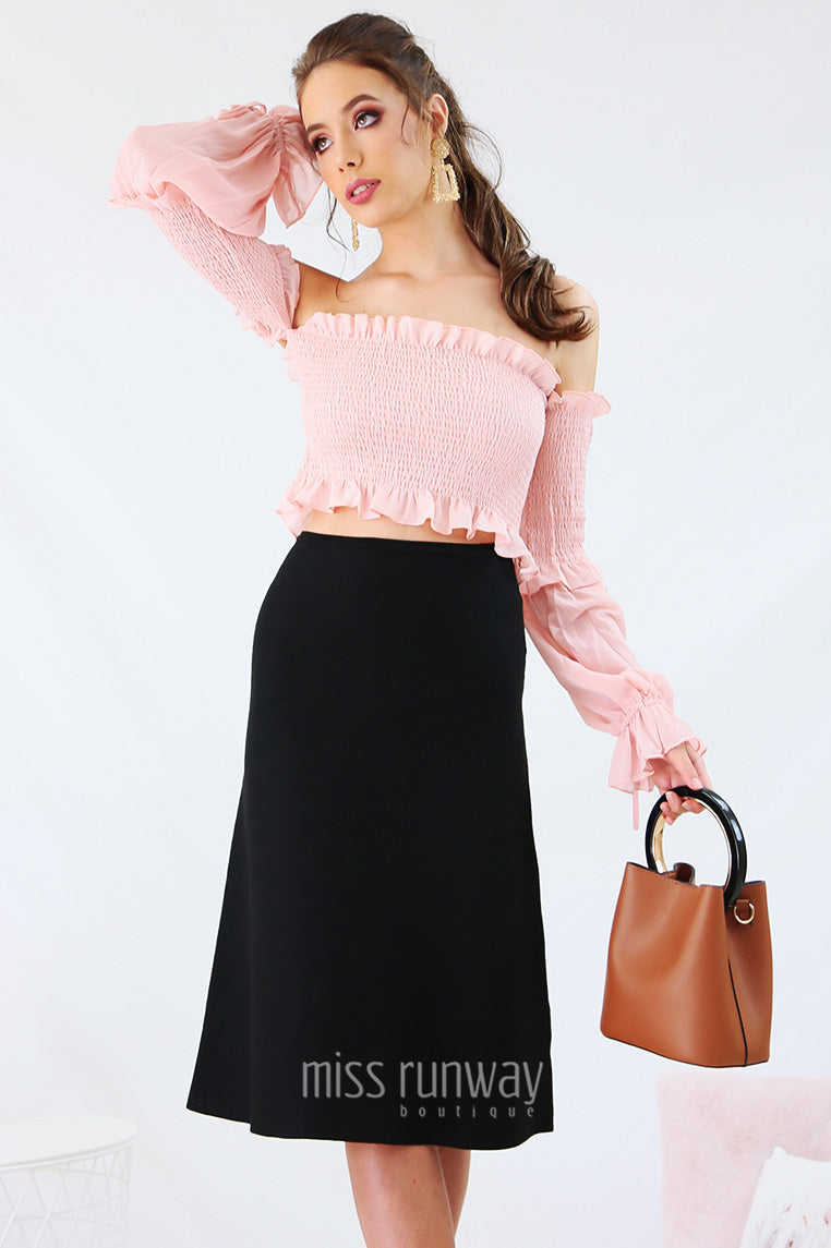 Onyx Knit Skirt - Black