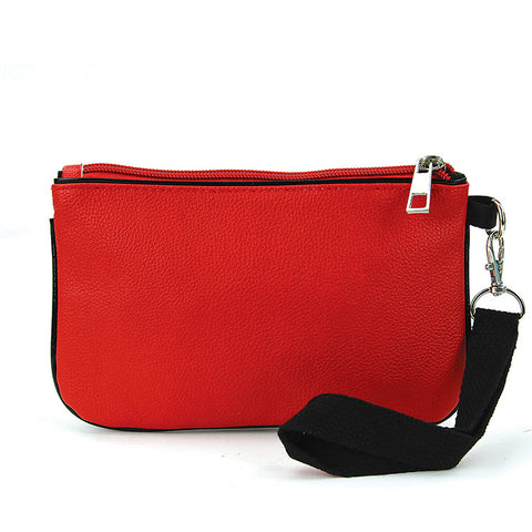 Pug Wristlet Wallet in Red