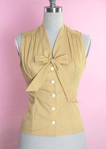 Elena Blouse in Marigold Dot by Heart of Haute