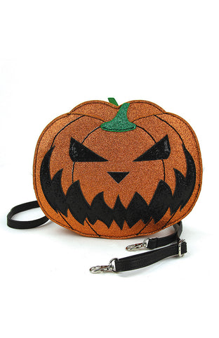 Two Faced Jack-O-Lantern Crossbody Bag