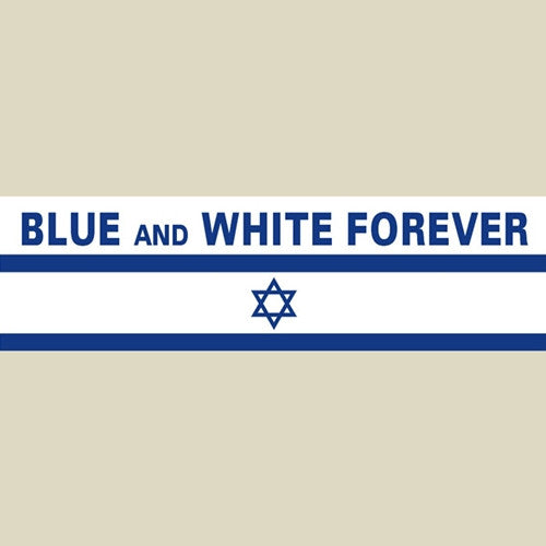 Israel Military Products Blue And White Forever Car Sticker
