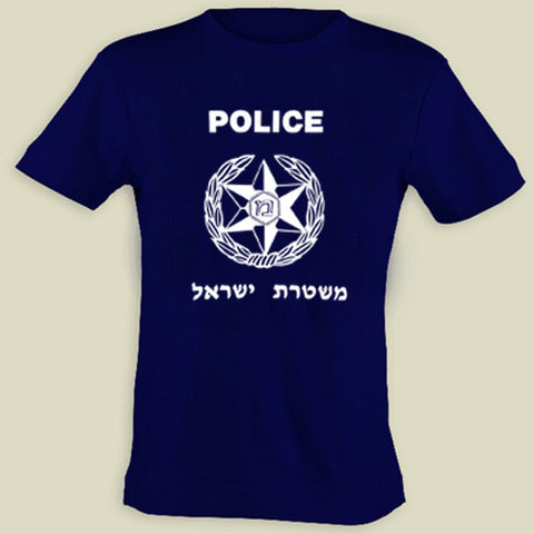 Israel Military Products Original Israel Police T shirt