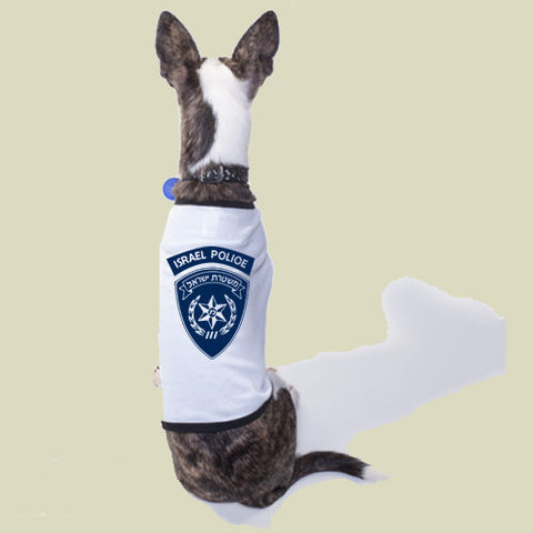 israel military products police dog shirt