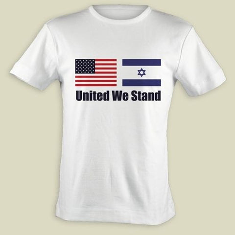 israel usa united we stand t shirt