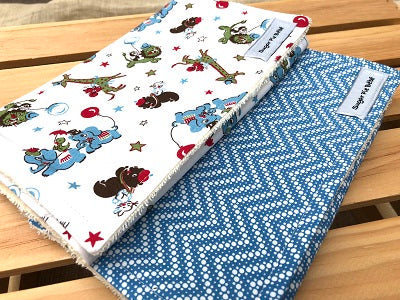 Circus Burp Cloth Set