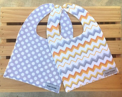 Dots & Chevron Bib Set