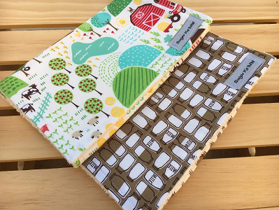 Farm Fun Burp Cloth Set