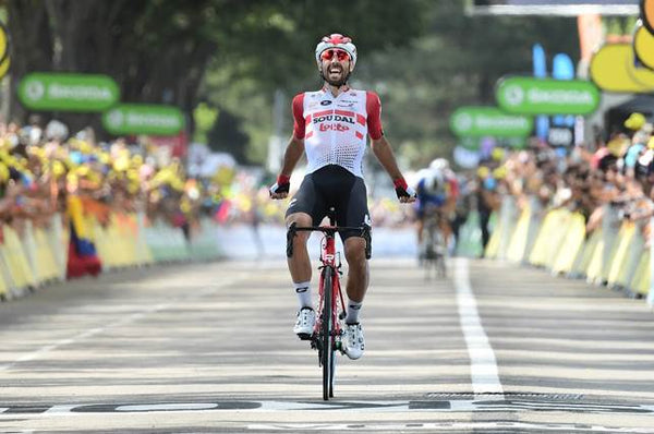 Photo credits: A.S.O./Alex BROADWAY Thomas De Gendt Lotto Soudal winner tour de france stage 8 2019