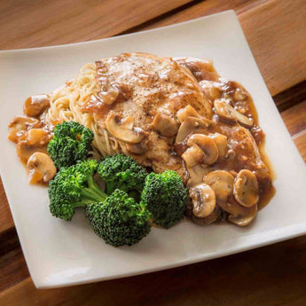 Chicken Marsala with Fresh Broccoli - Just-Add-Meat
