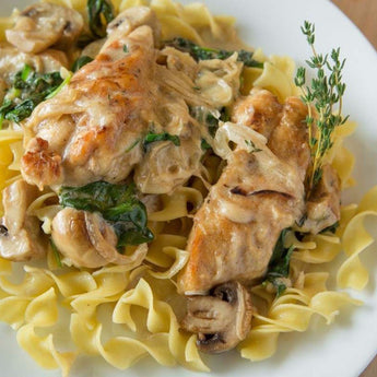 Sauteed Chicken Breast With Mushroom Cream Sauce - Just-Add-Meat