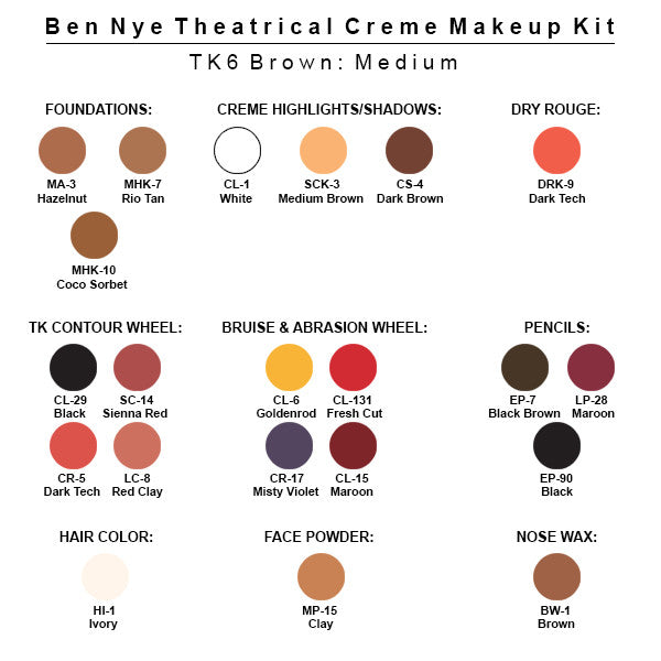 alt Ben Nye Theatrical Creme Makeup Kit