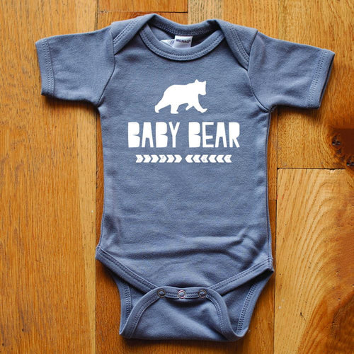 Baby Bear in Light Gray Bodysuit - Sweetpea and Co.