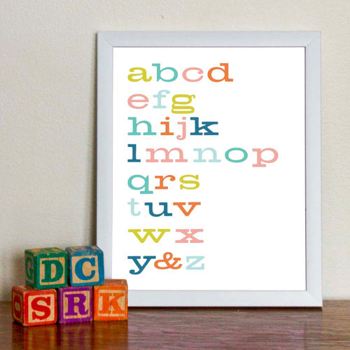 Alphabet Typography Art Print - Sweetpea and Co.