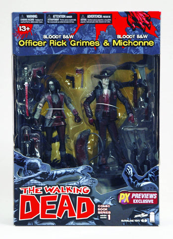 The Walking Dead - Officer Rick Grimes & Michonne Previews Exclusive 2 Pack - Cyber City Comix