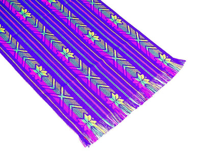 Mexican table runner, Purple Table runner 14x72 Inches, Fiesta Decoration, Cinco de Mayo, Boho Chic Decor, 14X72TRC739