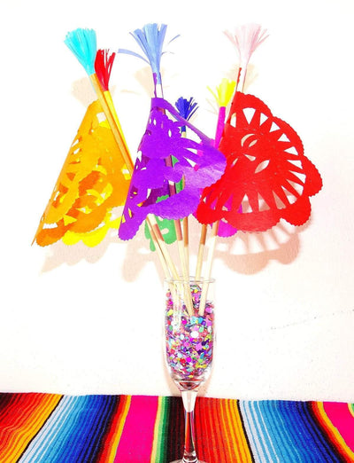Mexican Paper Flags - 5 De Mayo Fiesta Flag Party Props Set Of 5/10 FLAG01