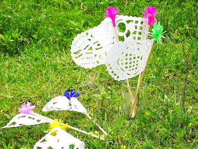 Mexican Paper Flags - Mexican Paper Flags, Banderitas, Mexican Party Decorations, Papel Picado, Wedding Paper Flags