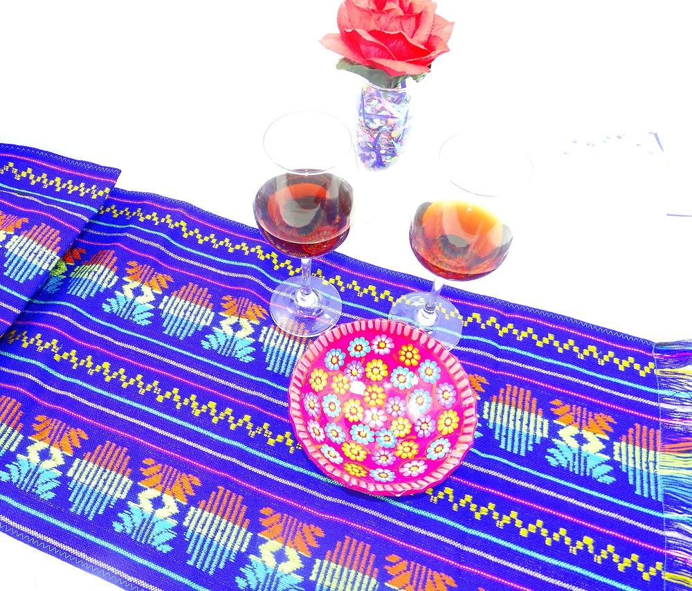 Mexican Table Runner - Tela Mexicana, Mexican Fiesta Party, Aztec Fabric, Mexican Wedding Decorations, Cinco De Mayo Party Decorations.